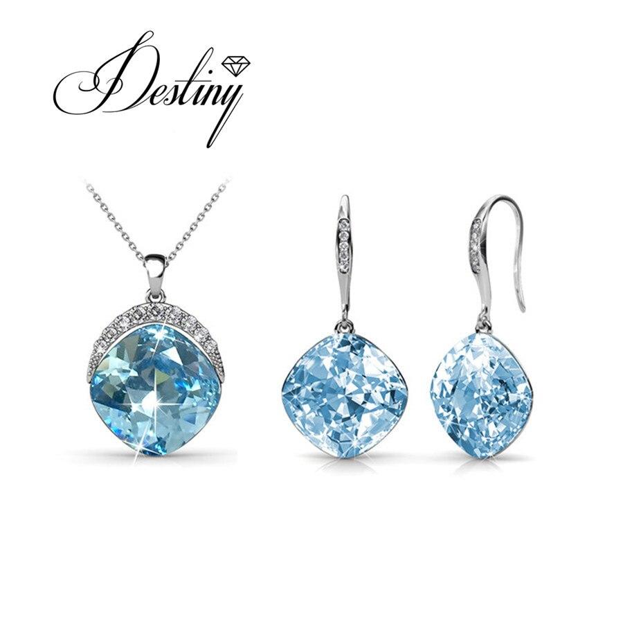 Destino Jóias Dia das Mães conjunto de brincos e Pingente Decorado com cristais de Swarovski cristais new hot sale set DS040