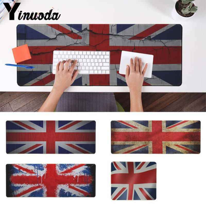 Yinuoda  UK Flag Comfort Mouse Mat Gaming Mousepad Size for 30x90cm and 40x90cm Gaming Mousepads