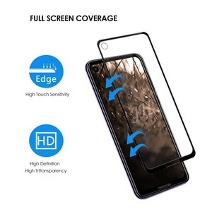 Image 5 - 2Pcs Full cover Tempered Glass for Motorola Moto One Action Screen Protector 9H Protective Glass for Moto One Action Film