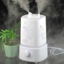 Ultrasonidos Humidificador de Aire Aromaterapia Difusor de Aroma LLEVÓ 110-240 V 25 W Luz Carve Diseño Fabricante de La Niebla de Aceite Esencial difusor
