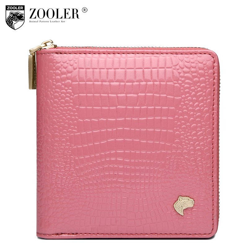 ФОТО 2017 ZOOLER wholesale women leather wallets cute coin cowhide purses lady mini-bag hot card holder zipper wallet luxury#816