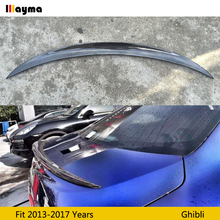 Carbon Fiber rear trunk spoiler For Maserati Ghibli 3.0 T S Q4 2013 2014 2015 2016 2017 year Sport style Car Wing