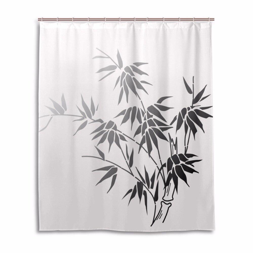 Leaves shower curtain Waterproof Mildewproof bathroom curtains Bath ...
