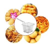 Panier à passoire en acier inoxydable | Mini panier à frire, passoire, friteuse, cuisine, panier de Chef, outil de passoire, panier de frites 2