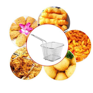 Image 2 - Portable Stainless Steel Chips Mini Frying Basket Strainer Fryer Kitchen Cooking Chef Basket Colander Tool French Fries Basket