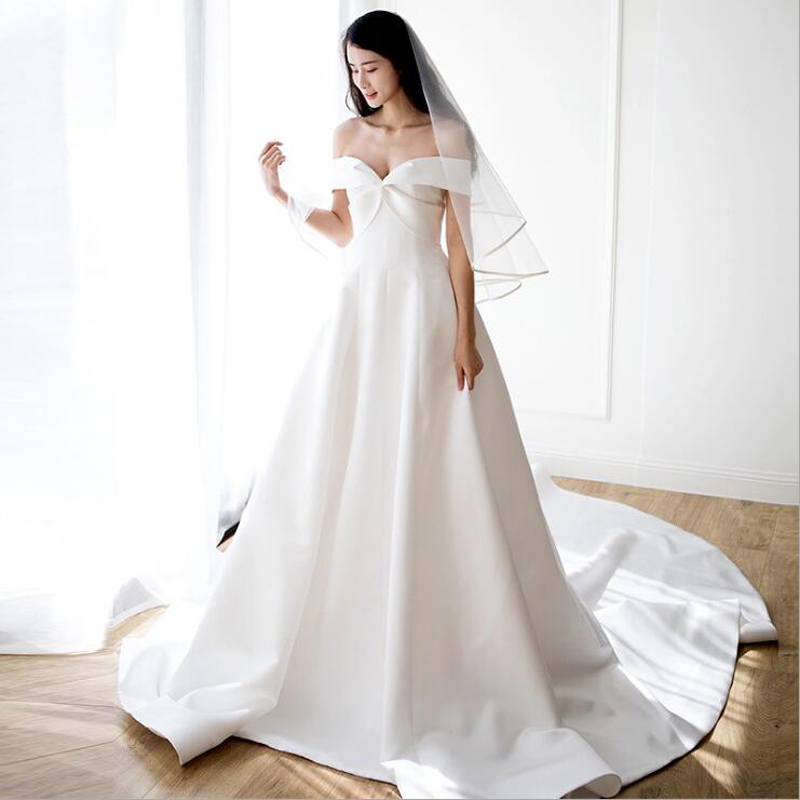 Simple Wedding Dresses In Philippines: Sweep Train Vestido De Noiva 2019 Muslim Wedding Dresses A
