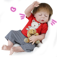 55cm Silicone Reborn Baby Dolls Alive Lifelike Sleeping Girl Real Dolls Realistic Baby Reborn Babies Kids