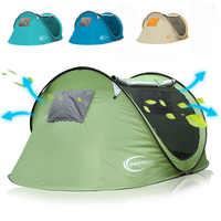 大空間ワイド 2-3-4persons ポップアップ春キャンプテント屋外テント自動クイックオープンビーチテント