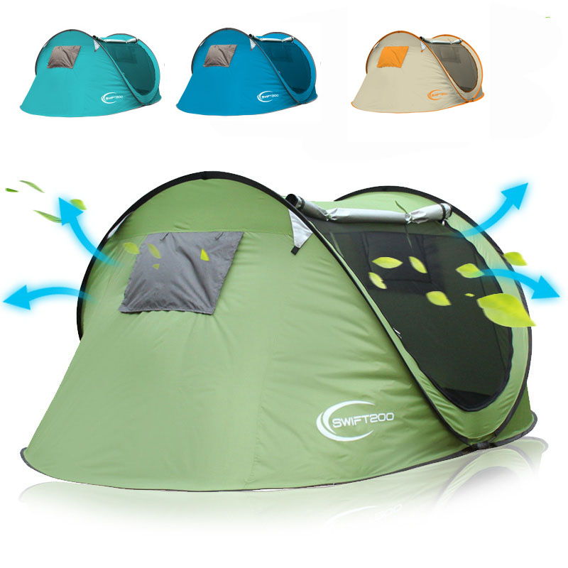 Large space wide 2-3-4persons pop up Spring camping tent outdoor tent automatic quick open beach tentLarge space wide 2-3-4persons pop up Spring camping tent outdoor tent automatic quick open beach tent