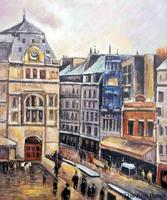 House Painting on Canvas View of Paris, Rue d Amsterdam Camille Pissarro Art for Home Decoration Hand Painted No Framed