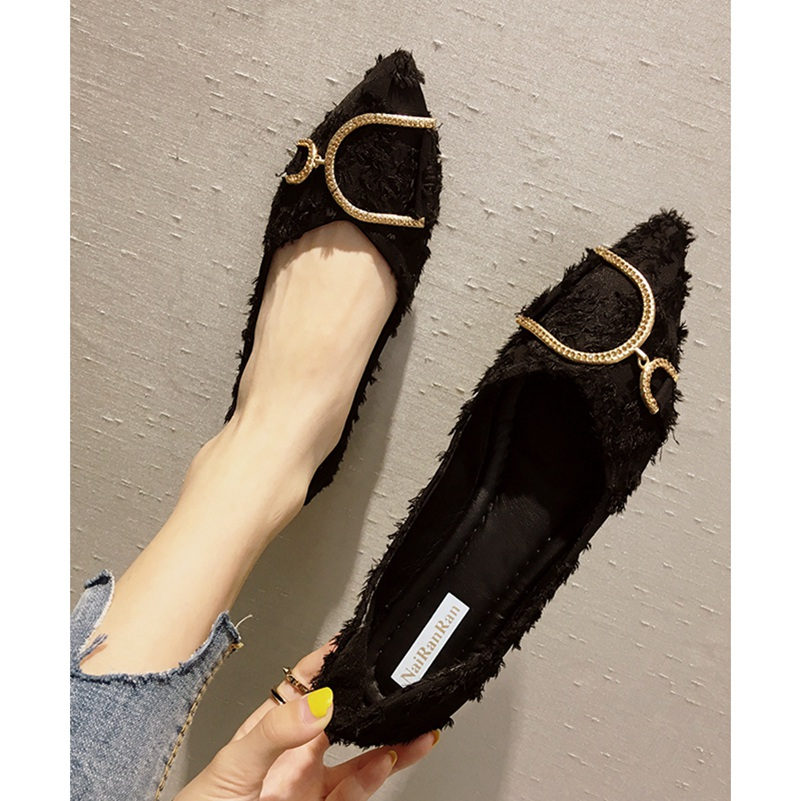 Women Flats Shoes Sexy Shallow Ballet Chaussure Pointed Toe Buckle Ballerina Flat Women Casual Shoes Slip On Loafers Shoes New 2018 new genuine leather flat shoes woman ballet flats loafers cowhide flexible spring casual shoes women flats women shoes k726