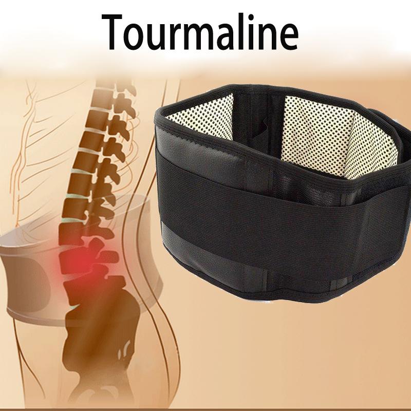 Turmalina calentamiento Espontáneo Terapia Magnética Cinturón de Soporte Lumbar Ajustable Lumbar Cinturones Corsé de Protección Térmica Doble Congregado S-XL