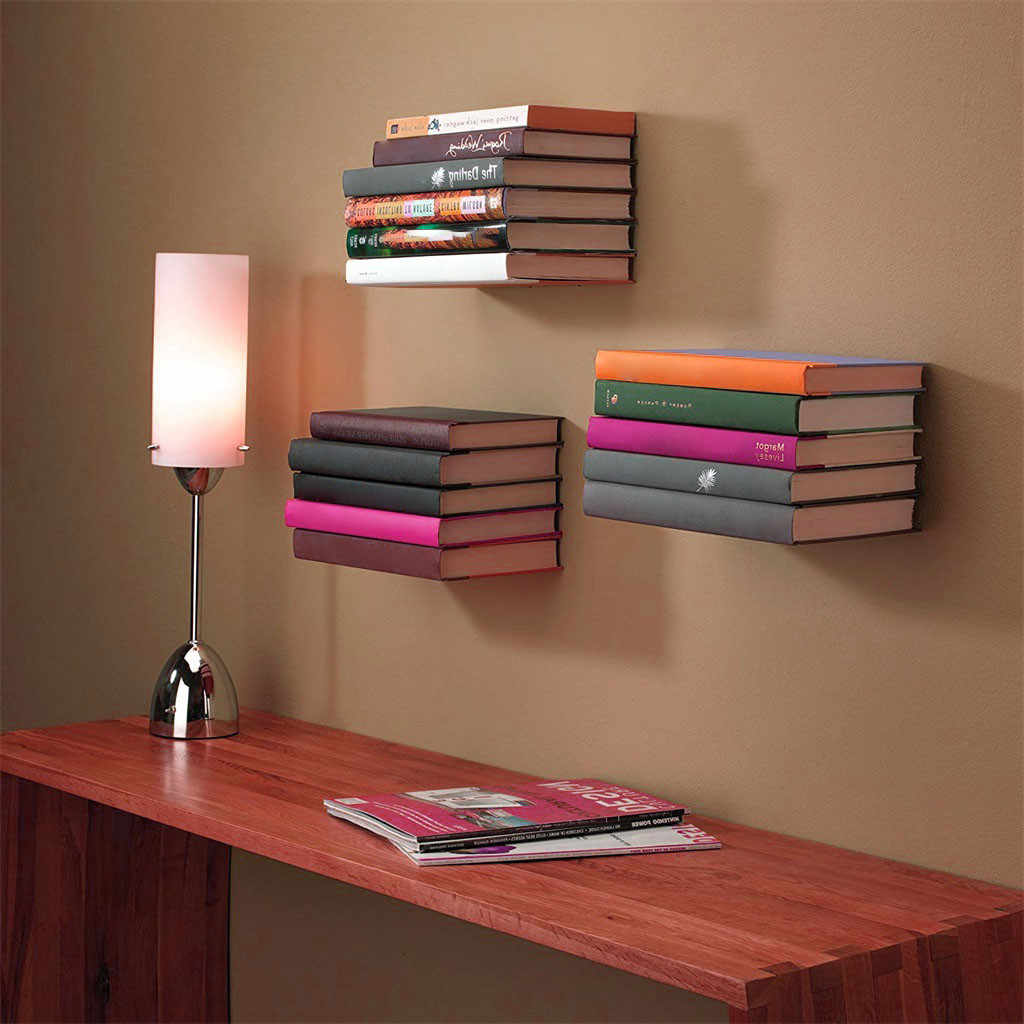 Floating metal Bookshelf  From For Storing And Displaying Your Favorite Books Shelf  Mounting Accessories Dropshipping &xs