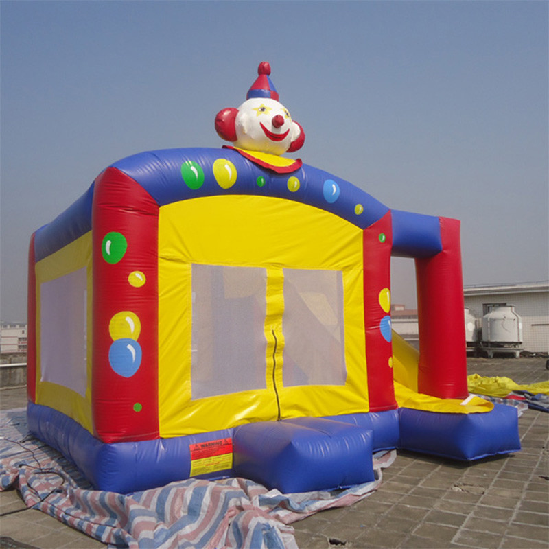Inflatable clown bouncy castle inflatable outdoor castle bouncing house for sale all in 1 combo sports games inflatable bouncing castle house obstacle course for kids fun