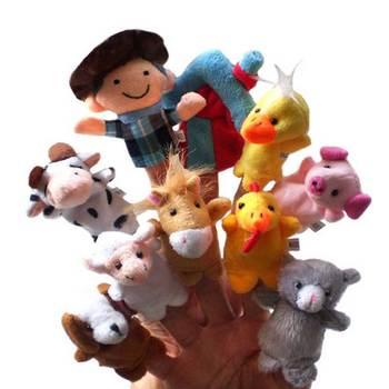 10 unids animales dedo Títeres conjunto cuentos cuento de hadas Juguetes  perfecto niños Navidad cumpleaños Regalos BM c89743c981e