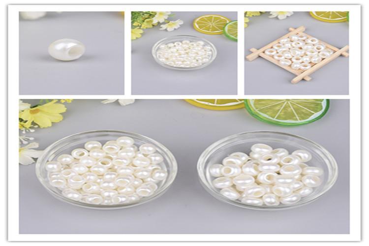 Оптовая продажа бусины из АБС пластика с имитацией жемчуга 10