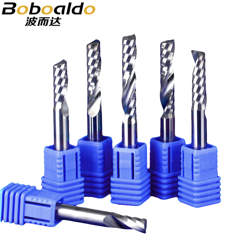 1pc 4/6mm SHK Single Flute Spiral Tools Engraving Bits Cutter Solid Carbide Endmill Cutting Wood Machine цены