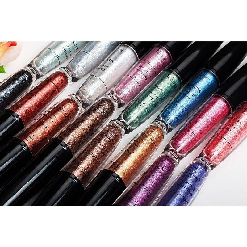 Brand New 16 Colors Metal Shimmer Eyeliner Liquid Highlight Waterproof Eye Liner Makeup