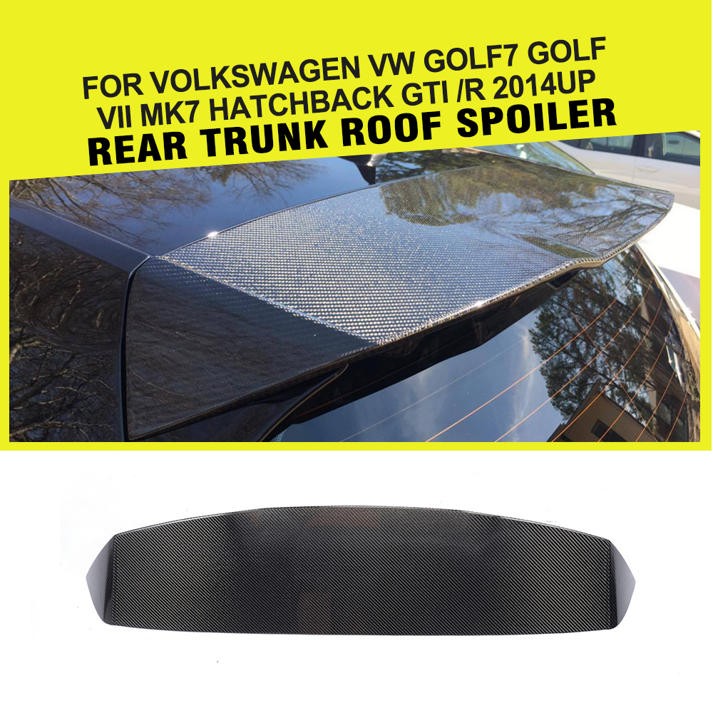 Автомобиль Стайлинг карбоновый задний спойлер на крыше сзади окна губы крыло для VW Golf 7 VII MK7 GTI R хэтчбек 2014 2017 Car Стикеры