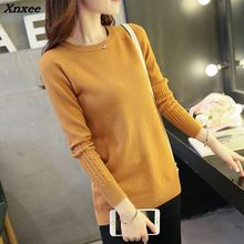 Hot Sale 2016 Autumn Winter Women Sweaters and Pullovers Fashion turtleneck Sweater twisted slim pullover sweater Xnxee