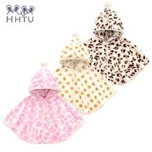 HHTU 2017 Baby shawl Outerwear infant cape Coat Jackets Spring Leopard Lovely Warm Cloak Shawls Cloak New Winter High Quality