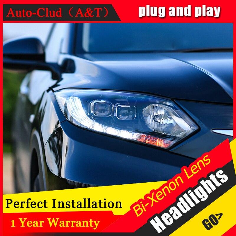 Стайлинга автомобилей для Honda ВСР светодиодные фары для vezel ВСР глава лампы глаза Ангела Сид DRL передний свет Би-Ксеноновые линзы Ксеноновые HID комплект