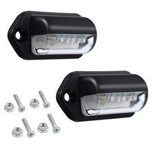 Номерной знак светильник s светодиодный номерной знак светильник задние лампы Универсальный 12 В 24 В для автомобиля прицепа грузовика Ute Van Caravan грузовика B