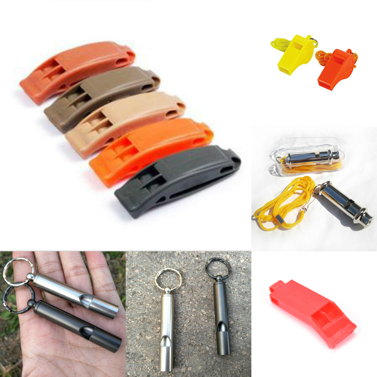 Soccer Football Sports Whistle Steel Military Whistles Safety Portable Outdoor Survival Rescue Emergency Plastic Whistle