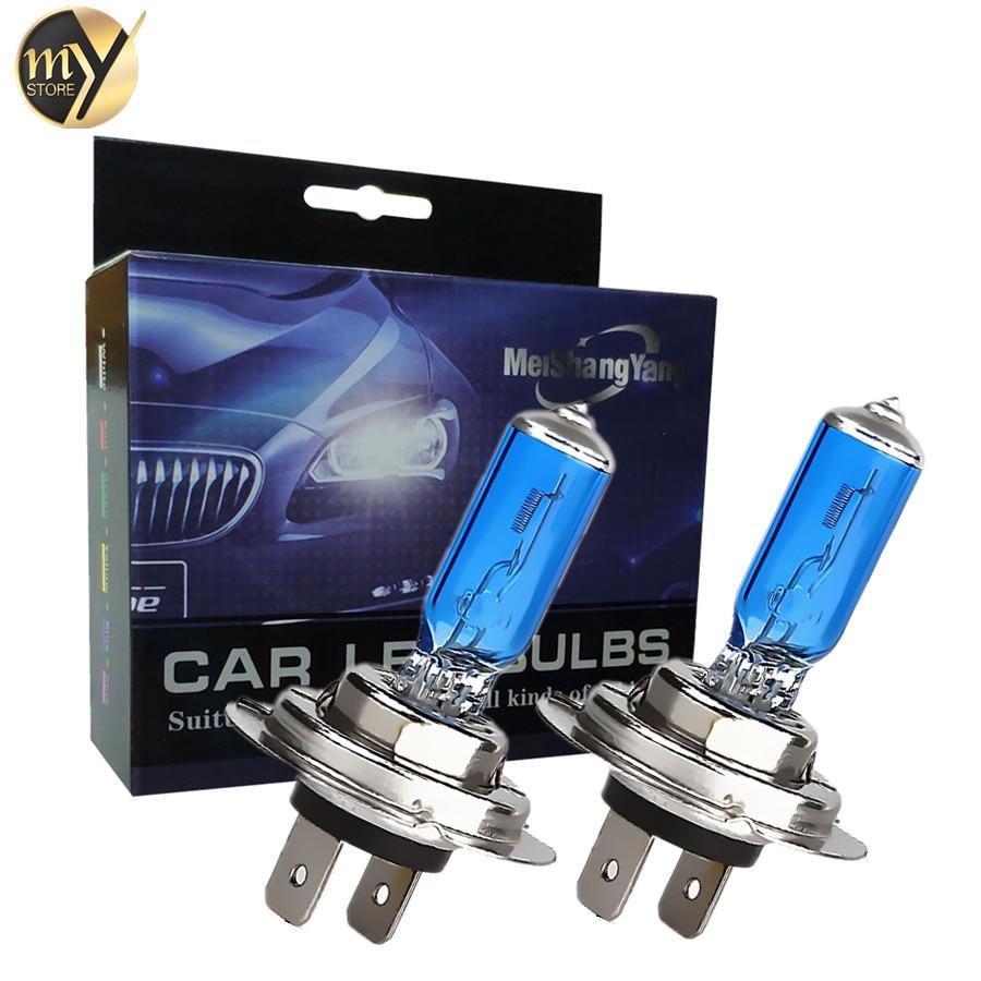 Super Bright Halogen Bulbs H1 H3 H4 H7 H8 H11 9005 HB3 9006 HB4 55W 12V 5000K Car Headlight Fog Lights Driving Lamp White