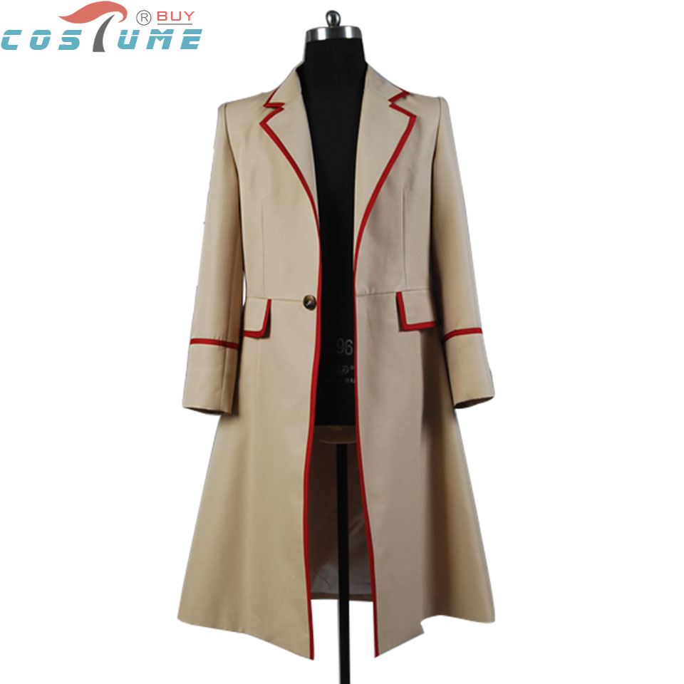 Who is doctor Red Stripe Beige Coat Trench Cape Halloween Cosplay Costume Custom Made For Men Free Shipping