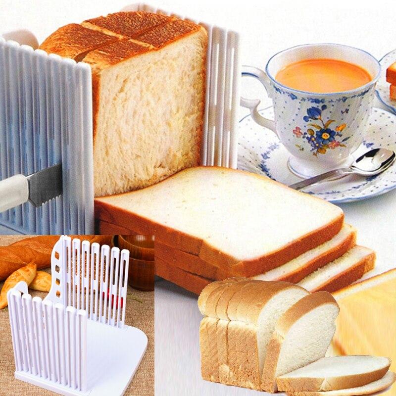 Trancheuse à pain Guide de coupe outils épissage en plastique pain grillé coupe-pain Rack tranchage accessoires de cuisine outil livraison directe