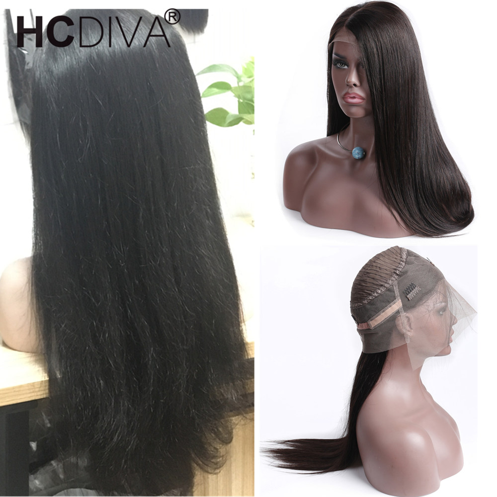 360 Lace Frontal Wig For Women Peruvian Straight Lace Frontal Human Hair Wigs Pre Plucked With Baby Hair 130% Lace Wig Remy Hair