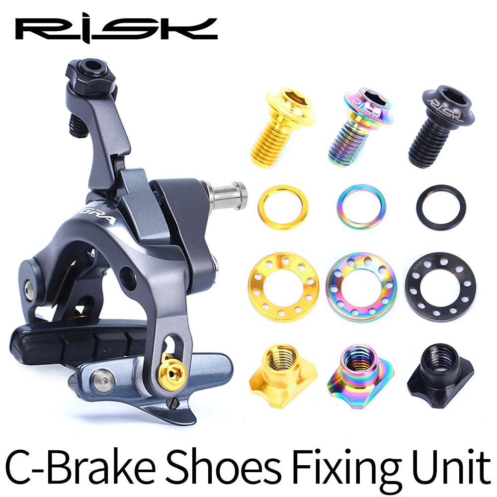 1 set Titanium Bolts Road Bike Brake Block Fixed Screw Kit Lightweight Bicycle V Brake Blots