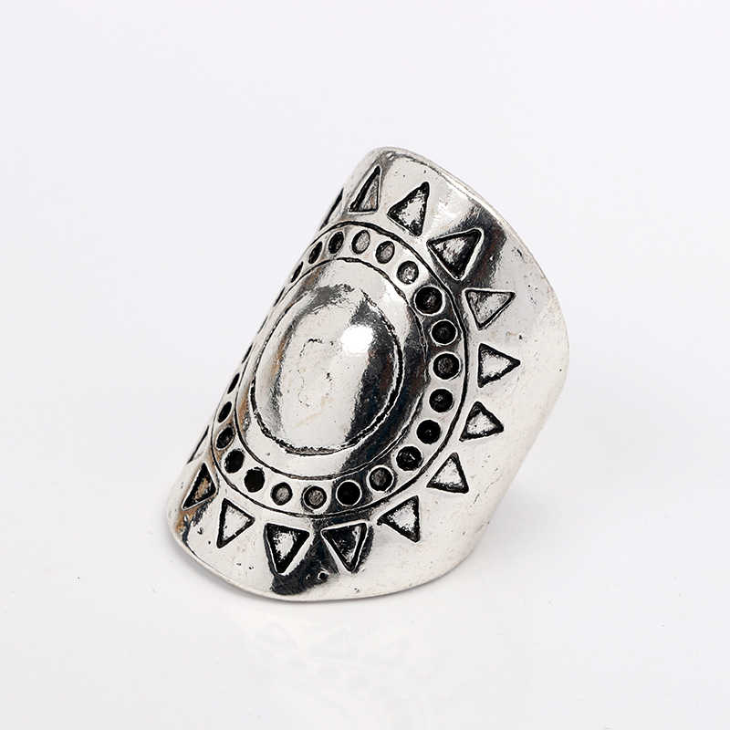 2018 New Hot Trendy 4pcs 1set Black Rings Set Carved Midi Ring Silver Punk Bridal Set of Rings for Women Men gift Party Jewelry
