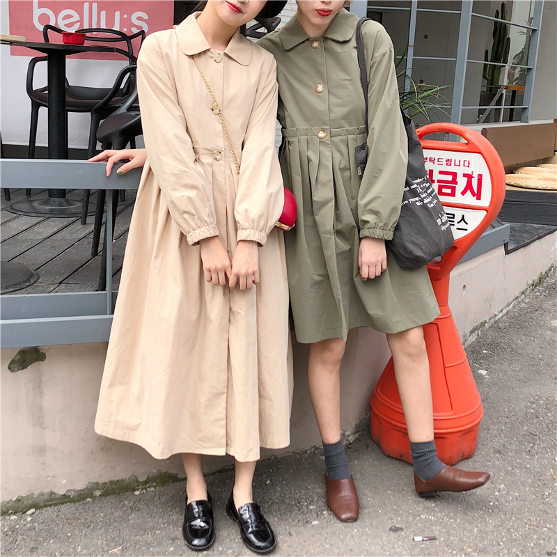 Women Korean Design Single Breasted oversized   Trench   coats loose plus size Overcoat Outerwear