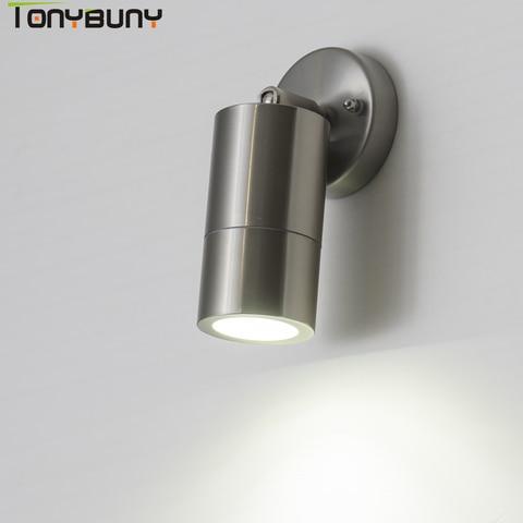 brilhante redondo ip65 moderno conduziu a lampada de parede ajustavel superficie montada ao ar livre