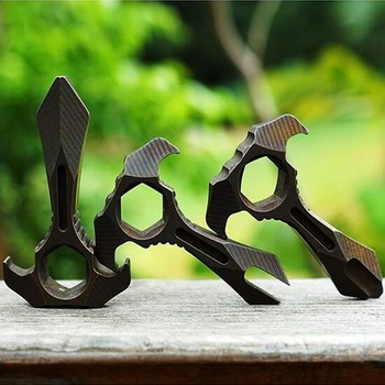 Мини титановый сплав Edc Мульти-инструмент, инструмент для выживания с брелок оборудование, сломанная веревочная кисть для декора окон гаечн...