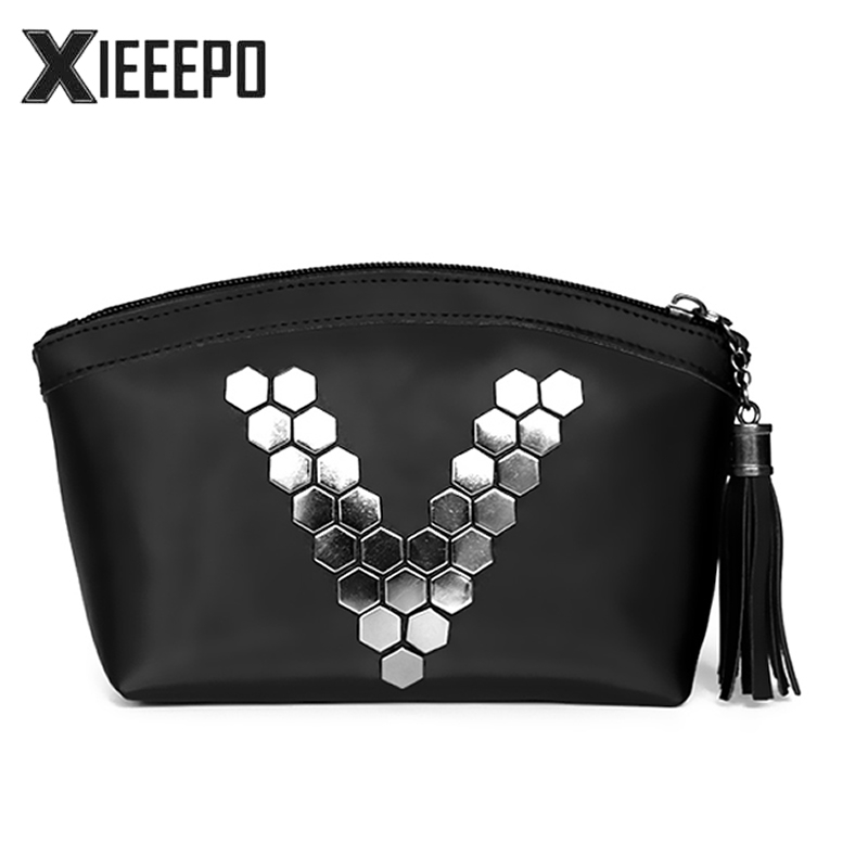 Fashion Letter V Cosmetic Bag Women Travel Makeup Case Zipper Make Up Handbag Organizer Storage Pouch Toiletry Wash Kit Bag cellecool zipper makeup bag neceseries cosmetic bag small handbag travel organizer storage bag for toiletries toiletry kit cc001