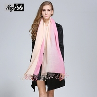 Pure Cashmere Scarf Winter Plus Size 210 82cm Fashion Quality Soft Noble Large Women Scarves For
