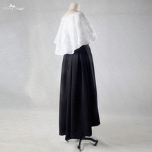 RSE723 biały i czarny ukończeniu studiów sukienki 2 sztuka suknie balowe tanie tanio Sukienki na studniówkę yiaibridal bez rękawów Beach Naturalne PERŁY Koronki z koralikami POLIESTER Kostek Z płaszczem