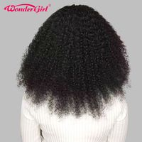 Afro Kinky Curly Lace Front Human Hair Wigs For Women Black Pre Plucked 180% Brazilian Wig Remy Hair Wonder girl Lace Wig