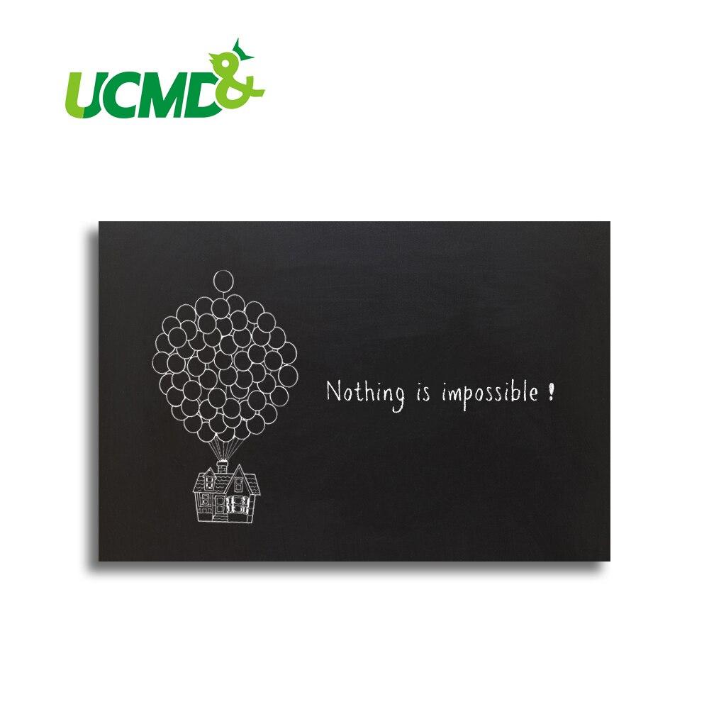 Decorative Magnetic Chalk Black Writing Board Blackboard Stickers 60 X 40 Cm
