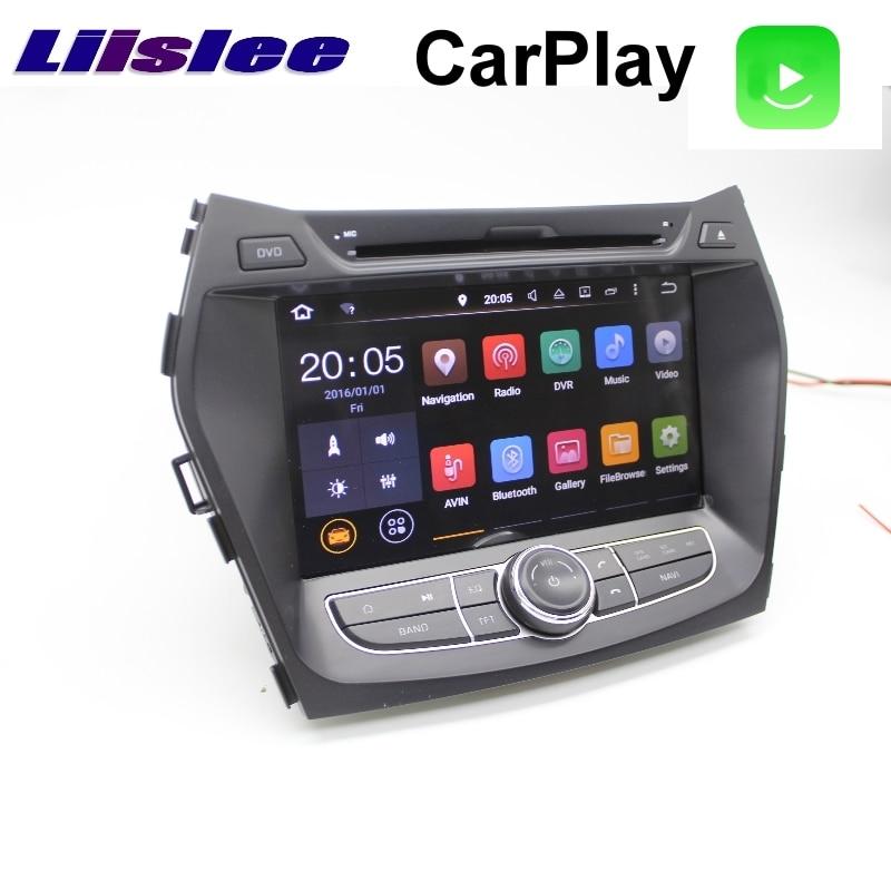 Liislee для hyundai ix45 Santa Fe Grand DM 2012 ~ 2018 Автомобильный мультимедийный ТВ DVD gps Радио Carplay оригинальный стиль навигации Navi