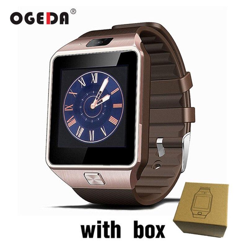 OGEDA DZ09 hombres reloj inteligente hombre inteligente Digital de deporte reloj muñeca soporte TF SIM Respuesta de llamada con Fitness Tracker Smartwatch hombre