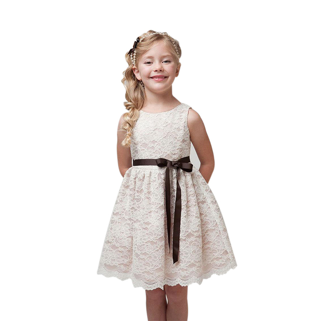 Girls Dress 2016 Summer 2-9T Lace Dresses For Girl Kids Clothes Cotton Christmas dress Party Costume vestidos infantis CL009