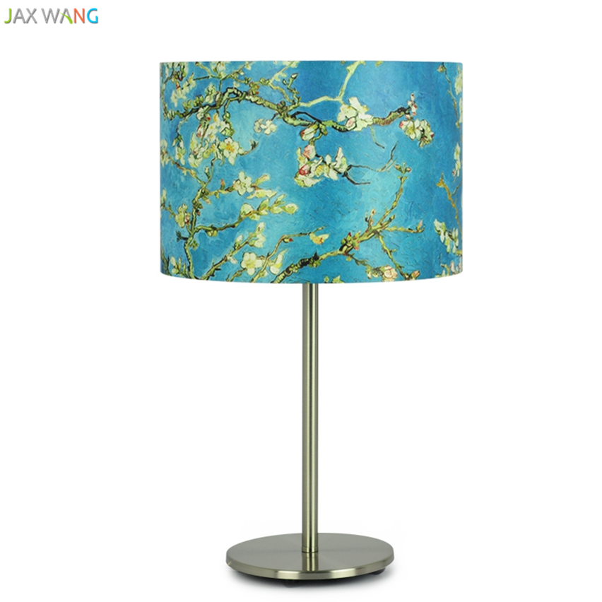 Cheap Price Jw_desk Lights For Eye Protection Van Gogh Table Lamps For Creative Bedroom Bedside Lamp Nordic Round Led Energy-saving Lighting Lights & Lighting