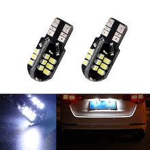 2x Super bright License plate Light No Error T10 3020SMD LED For Opel Adam Corsa C Combo D Astra H
