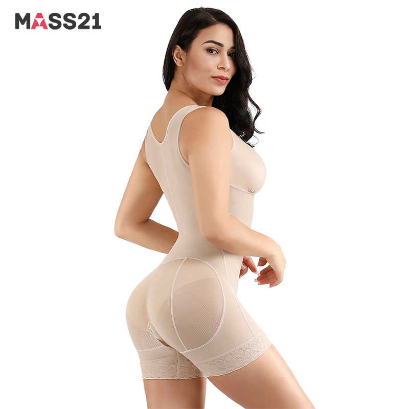MASS21 Kant Haken U Hals Shapewear Afslanken Bodysuit Body Shaper Crotchless Body Briefer Tummy Controle Butt Lifter Taille Icncher
