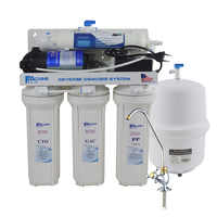 High Quality!Household 5-Stage Under-Sink Reverse Osmosis Drinking Water Filtration System -50GPD/100-240V/Two-pin round plug
