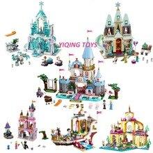 سلسلة مكعبات بناء متوافقة مع Disneye الأميرة صديق سلسلة لعب للأطفال البنات هدية